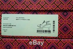 New CURRENT $268 Tory Burch MILLER WEDGE LOGO SANDALS Dusty Cypress TAN 5-11 NIB