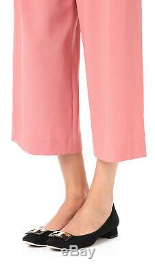 New TORY BURCH Gigi Block Heels Suede Pumps Shoes Flats 6 Black