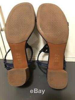 New TORY BURCH Size 9 MILLER WEDGE Leather Sandals Shoes