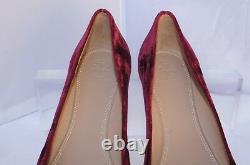 New Tory Burch Chelsea Cap Toe Ballet Shoes Flats Size 7 Velvet Red