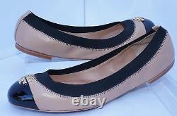 New Tory Burch Jolie Shoes Size 8.5 Ballet Flats Beigi Leather