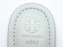 New Tory Burch MILLER SANDALS Lt Blue Seltzer TUMBLED Leather 7.5 or 9 + Bag NIB