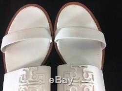 New Tory Burch Melinda Ivory Sandals US 11 Logo Ivory Slingback Strap White Shoe