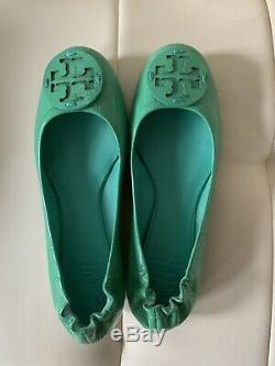New Tory Burch Reva Patent Ballet Flats Womens 8M