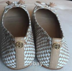 New Tory Burch Russell Woven Leather Loafer Shoe 7.5 M $285