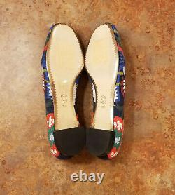 New! Tory Burch'Sadie' Floral Cross Stitch Loafer Shoes Womens 10 M MSRP $348
