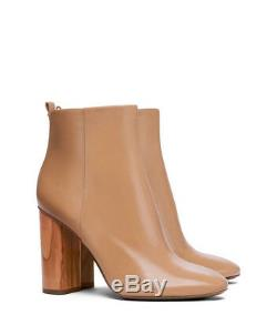 New Tory Burch Sz 7 Raya Ankle Leather Boots Bootie Sand