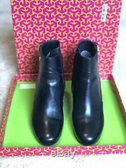 Pre-owned Tory Burch'Milan' 85mm Wedge Bootie Size 7M US- Retail $395