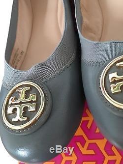 Sale! NIB Tory Burch Caroline 2 Ballet Flats, Grey, Size 9