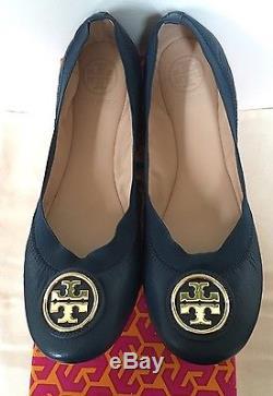 Sale! NIB Tory Burch Caroline 2 Ballet Flats, Newport Navy, Size 7, 8.5