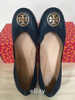 Sale! NIB Tory Burch Caroline 2 Ballet Flats, Newport Navy, Size 7, 8, 8.5, 9