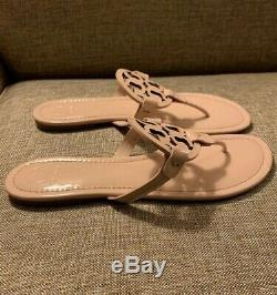 Size 11 Tory Burch Miller Sea Shell Pink Patent Leather Sandals $198