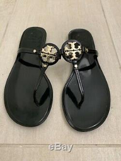Size 9 Tory Burch Black Jelly Miller Slip On Sandals $98