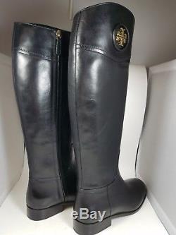 Sz 10 NEW TORY BURCH Ashlynn Black Leather knee-high tall boots $495