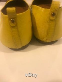 TORY BURCH 34277 Yellow Abby Ballet Tumbled Leather shoes size Sz 10.5
