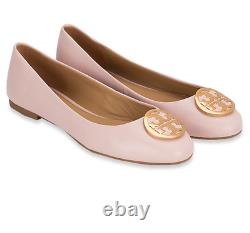 TORY BURCH Benton 2 Ballet Flat Shoes Leather Sea Shell Pink $248.00 NWT