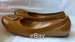 TORY BURCH Caroline Ballet Flat Shoe Color Dark Sand Women Size 8 NEW IN BOX