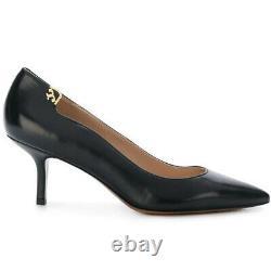TORY BURCH ELIZABETH Pointed Toe Pump Shoes BLACK Leather Sz 8 M NEW