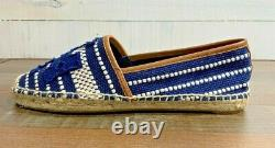TORY BURCH Espadrilles Slip On Shoes Size 10M NEW Textile Upper Navy Blue