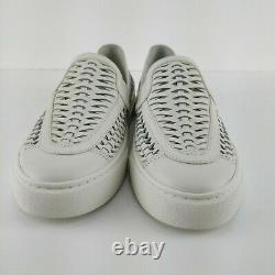 TORY BURCH Huarache 2 slip-on Sneaker Size 9 M Ivory Calf Leather Shoes NIB