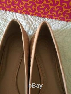 TORY BURCH Light Oak Quilted Bryant Ballet Flats Women Size 7.5 New In Box