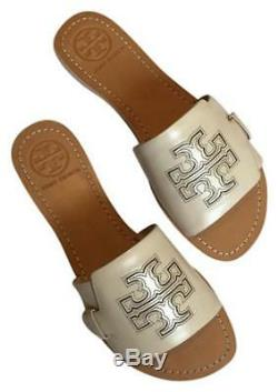 TORY BURCH Melinda Slide Sandal- Veg Lether 40006 Dulce de Leche 215 size 8