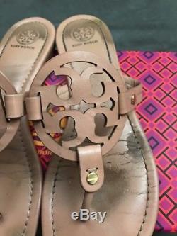 TORY BURCH Miller Light Makeup Blush Leather Thong Sandal Sz 9.5 #L9