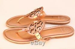 TORY BURCH'Miller' Metallic Gold Leather Thong Sandals Slipper Flip Flop Sz 10