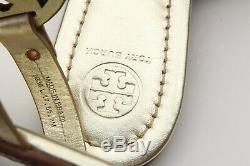 TORY BURCH'Miller' Metallic Gold Leather Thong Sandals Slipper Flip Flop Sz 8