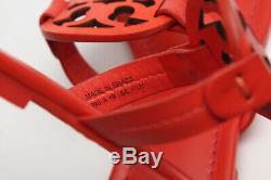 TORY BURCH Miller Thong Sandals Shoes Bright Pomander Orange Leather 6.5 M