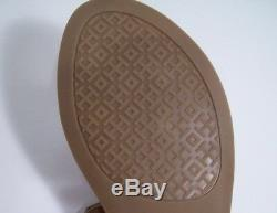TORY BURCH Mini Miller Gabriel Sandals Royal Tan Lth Sz 7.5 New W Box FREE SHIP