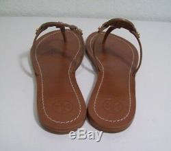TORY BURCH Mini Miller Thong Sandals Royal Tan Lthr Size 7 New In Box FREE SHIP