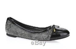 TORY BURCH VERBENA 228640 python print leather cap toe ballet flats sz. 9