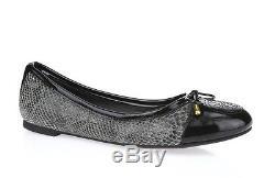 TORY BURCH VERBENA 228640 python print leather cap toe ballet flats sz. 9