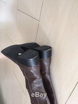 TORY BURCH Women Brown Knee High Boots Size 8