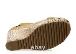 TORY BURCH Womens Brown Leather Wedge Platform Sandals Shoes Size 7.5 M 208503