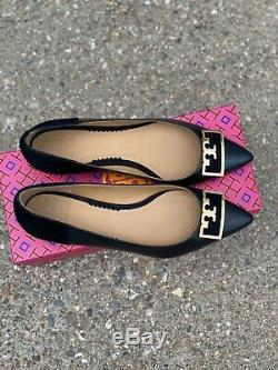 Tory Burch 20 mm Gigi Pointy Toe Flat Black Size 7.5 M Slip On Shoe