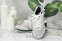 Tory Burch (44481) Sawtooth Logo Gray Multi Mixed Material Sneaker Trainer Shoes