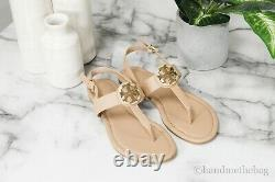 Tory Burch (61768) Claire Vegan Leather Tory Beige Flat Thong Sandal Shoes