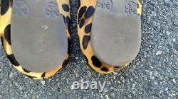 Tory Burch A20A Leopard Ballerina Ballet Flat Women Shoes Sz US 7.5 M
