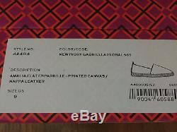 Tory Burch Amalia Flat Espadrilles Printed canvas/nappa leather Brand New Sz 9