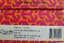 Tory Burch Ballet Espadrille Canvas Embroidered Logo Flats Us 11 I Love Shoes