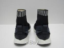 Tory Burch Banner Sock Sneakers Shoes Black/Navy Size 8.5