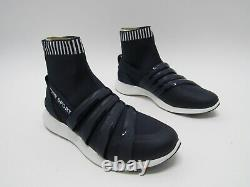Tory Burch Banner Sock Sneakers Shoes Navy Blue Womens Size 8.5M