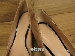Tory Burch Beige Quilted Leather Black Patent Claremont Pumps Wedge Shoes 9 $298