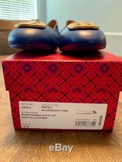 Tory Burch Benton Ballet Flat Blue Size 9.5
