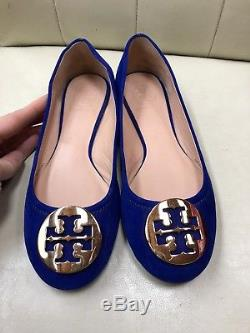 eb322fde96cc Tory Burch Blue Suede Reva Ballet Flats Size 6.5 M