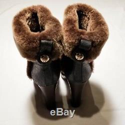 Tory Burch Boots Women's US Size 9 Platform High Heel Booties Color Black Brown