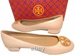 Tory Burch Chelsea 25Mm Ballet Flats Ballerina Gold Logo Pumps Shoes 10