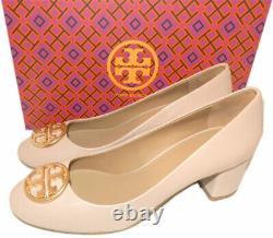 Tory Burch Chelsea 50 Mm Ballet Flats Ballerina Gold Logo Pumps Shoes 6.5